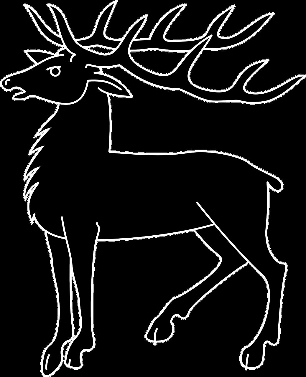 clipart royalty free Deer animal mammal antlers. Hunting vector