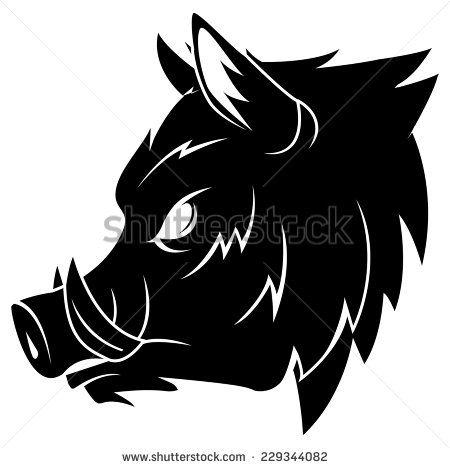 clipart royalty free stock  hog shutterstock. Boar vector silhouette