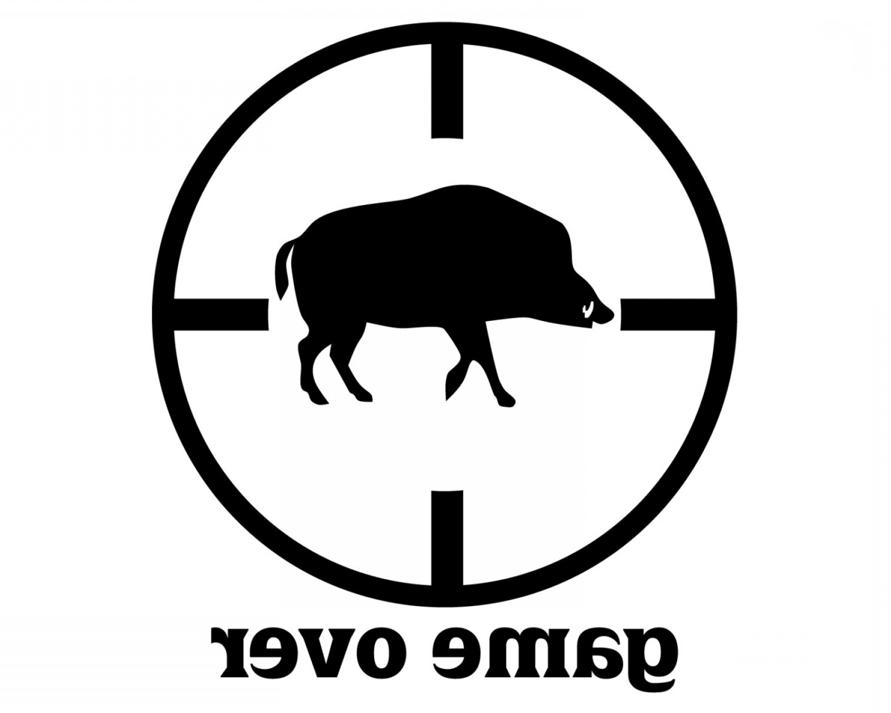 clipart library library Wild hunter decal soidergi. Boar vector hog hunting