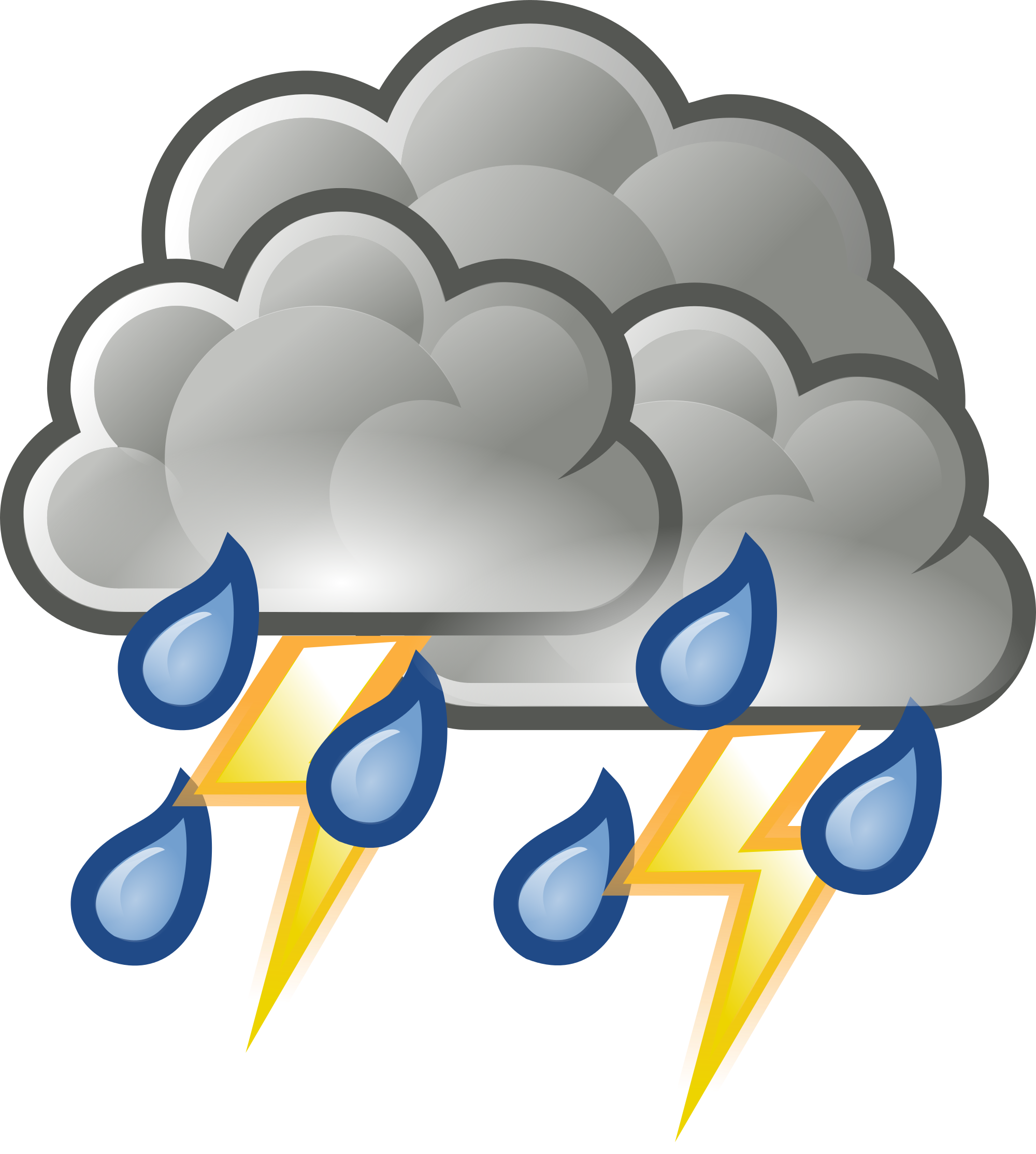clip black and white stock Thunderstorm Clipart hurricane