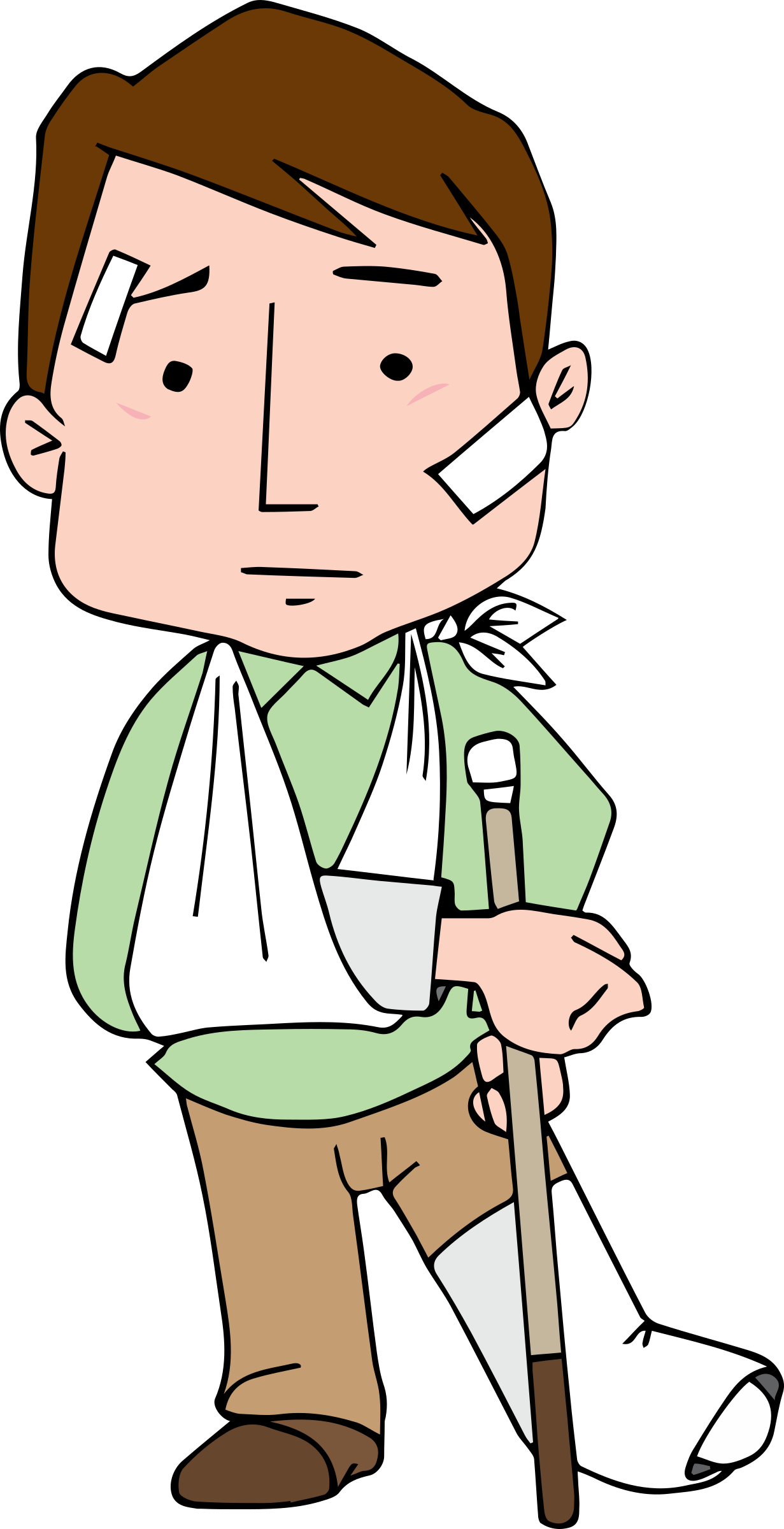 jpg free library Injured big image png. Hurt clipart