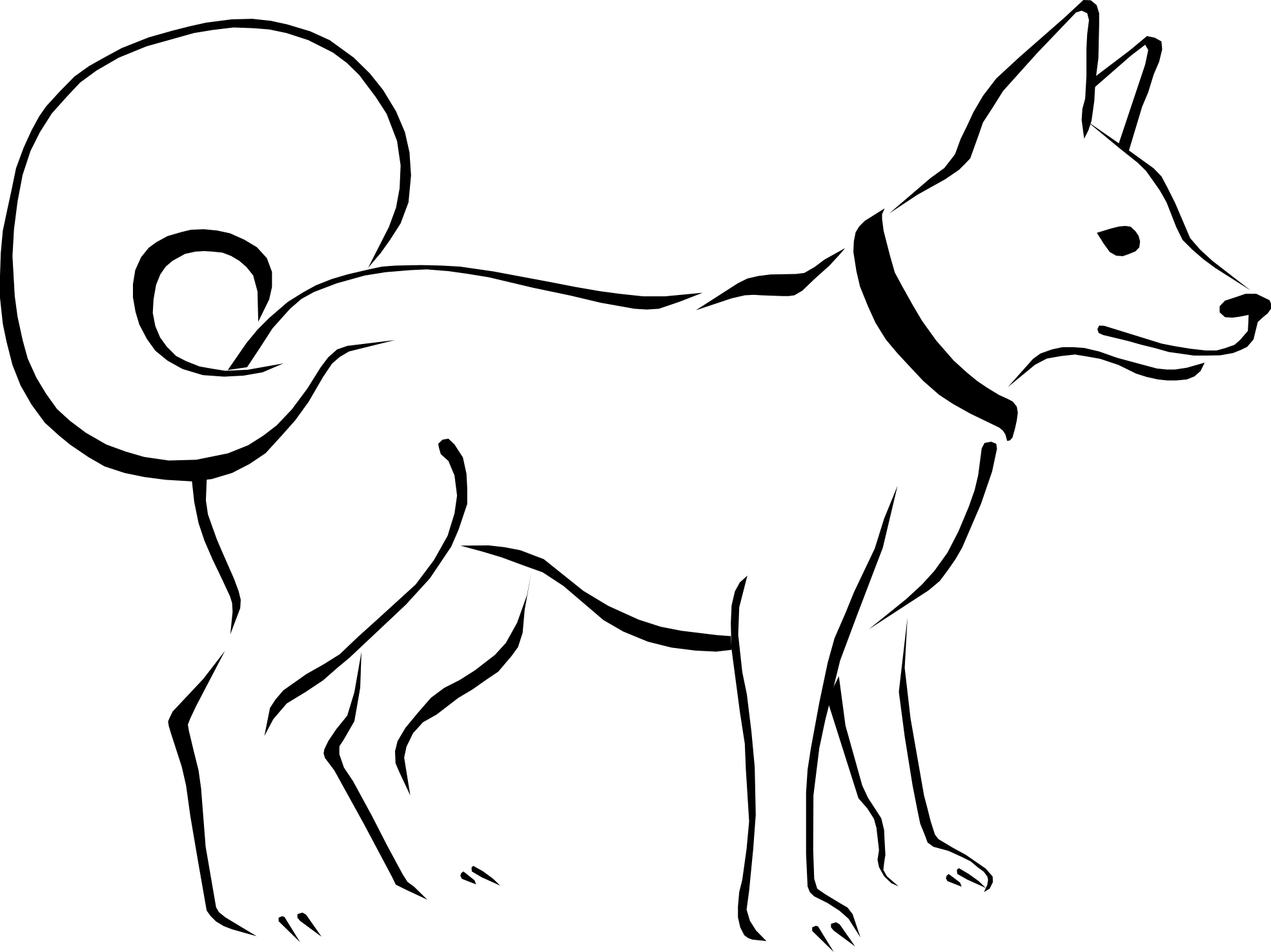 jpg download Dog Clipart Clipart line art