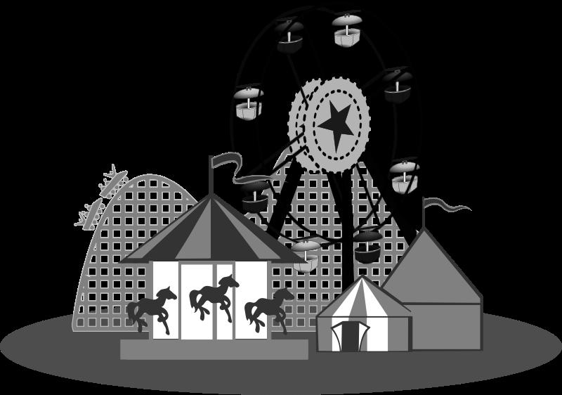 jpg library download Carnival b w medium. Ferris wheel clipart black and white