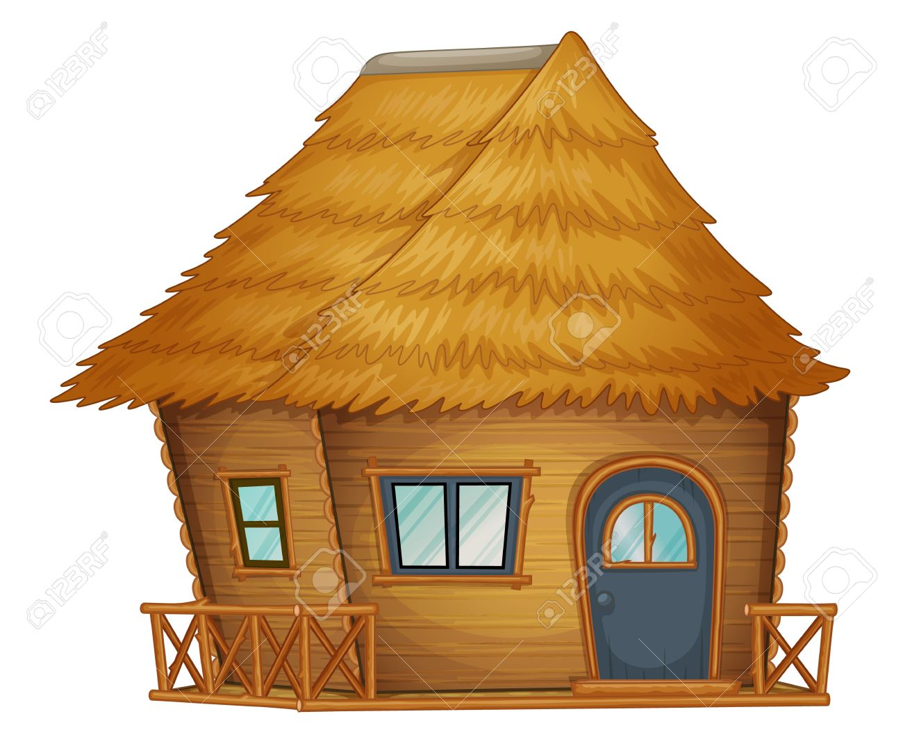 picture black and white library Hut clipart choza. Station