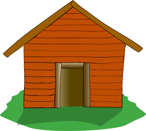 graphic library download Camping cabin panda free. Hut clipart desert house
