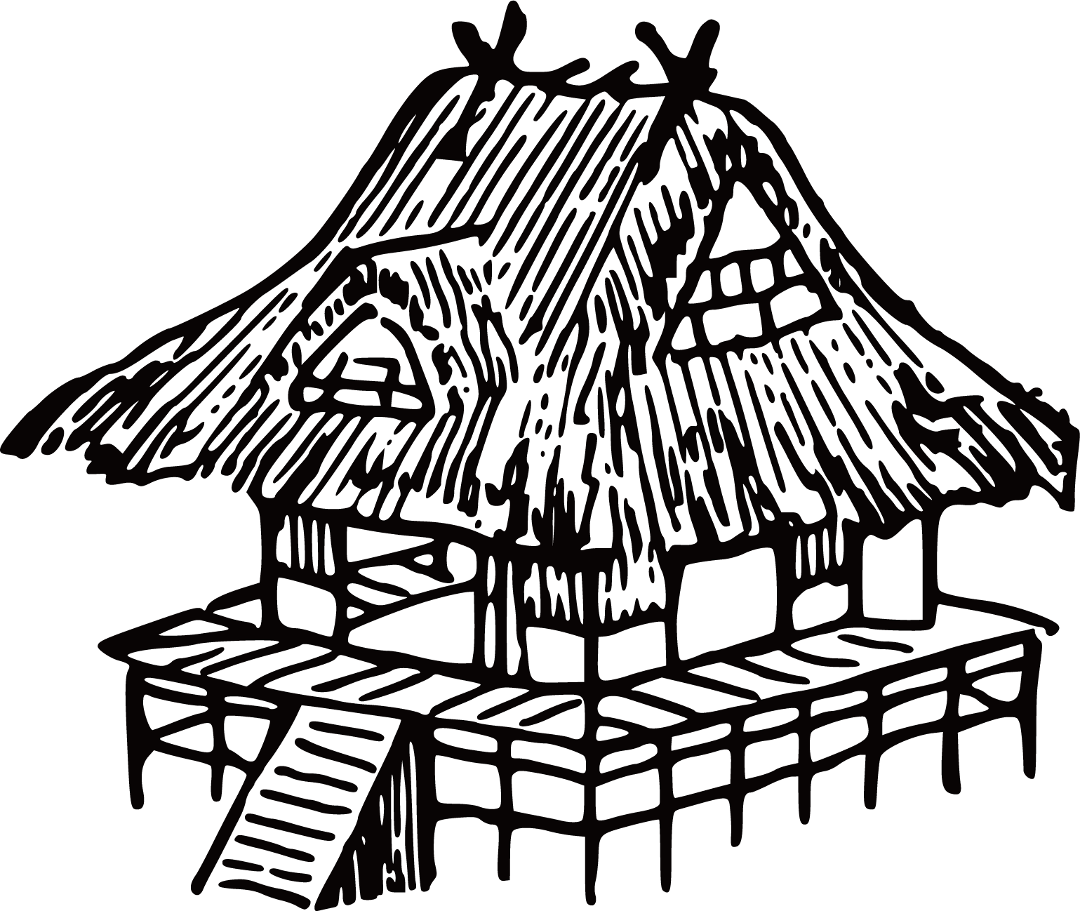 jpg library download Japan House Drawing Clip art