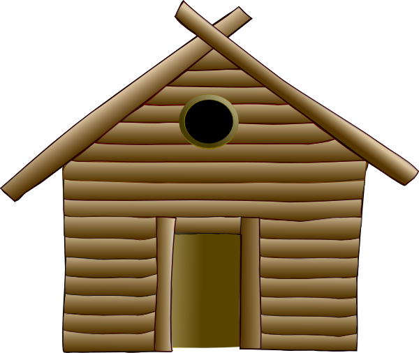 clip art transparent Wood Hut Clip Art at Clker