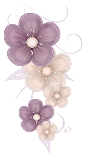 vector library stock Cute Flowers Decor PNG Clipart Picture