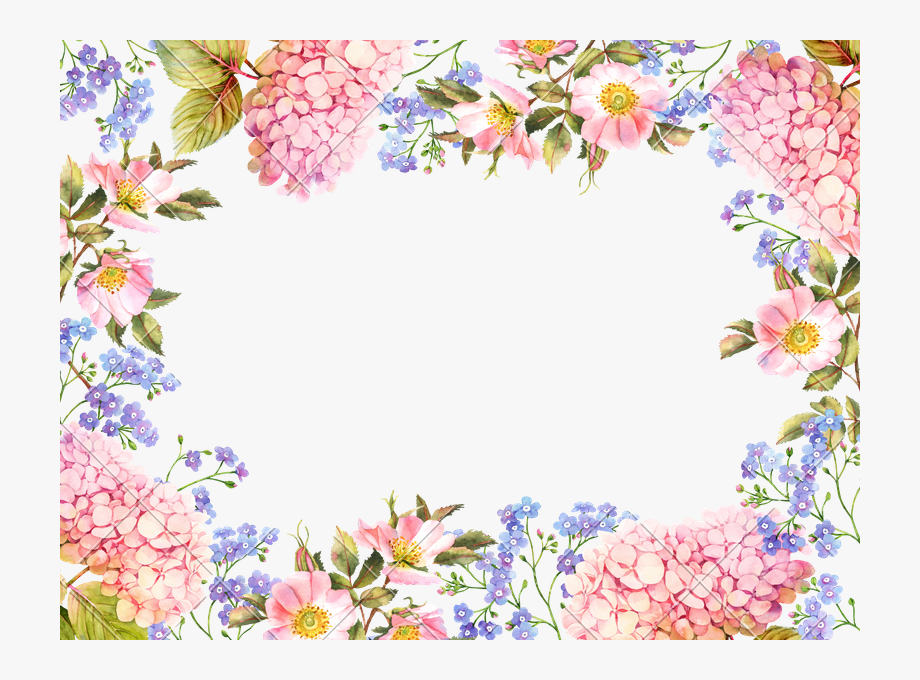 svg stock Floral label border . Hydrangea clipart photograph.