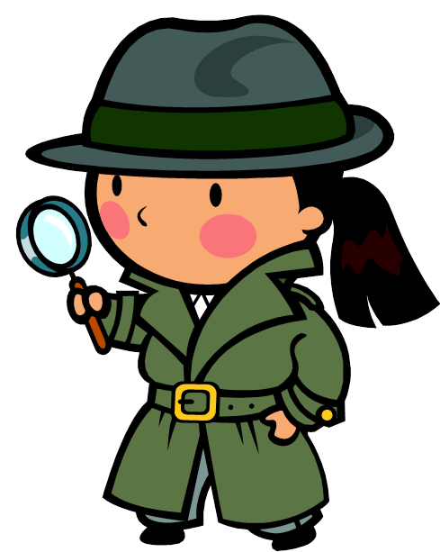banner library download Reading Detective Clipart