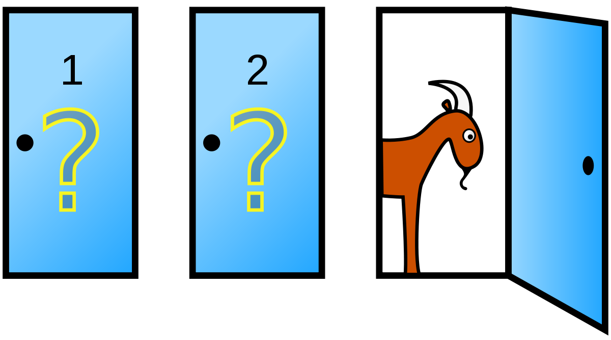 svg transparent stock Monty hall problem wikipedia. Quiz clipart conundrum