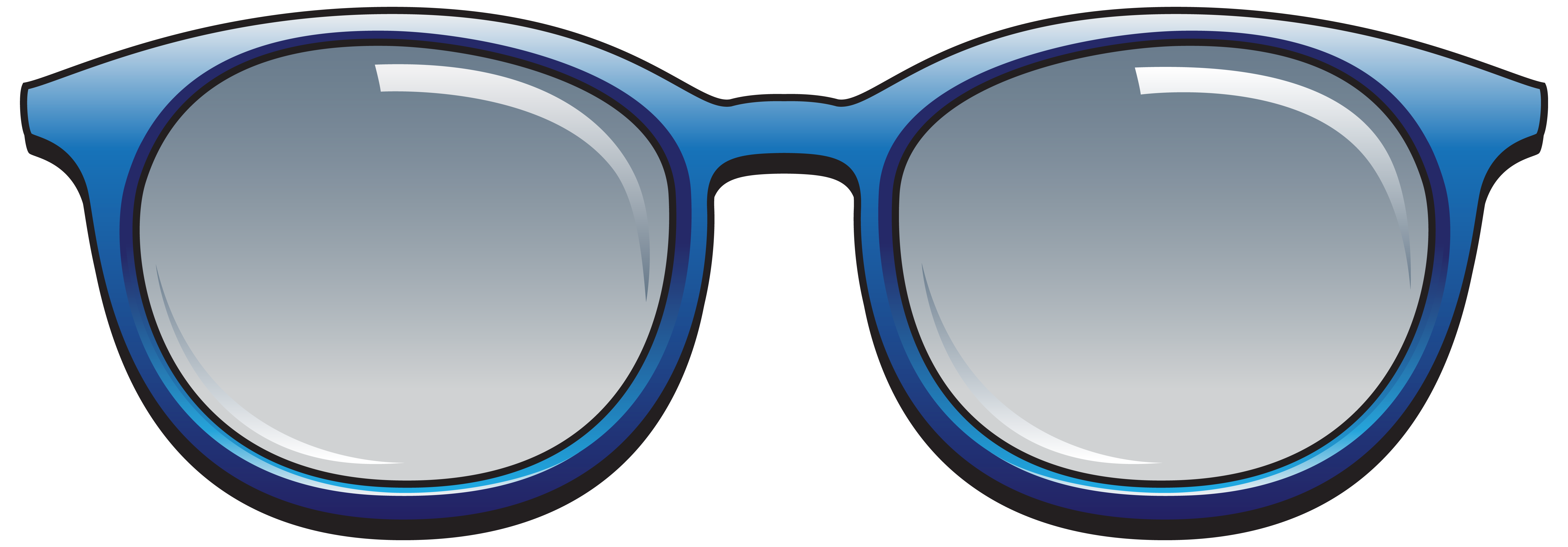 picture black and white download Blue Sunglasses PNG Clipart Image