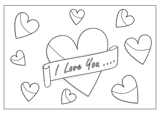 banner royalty free download I love you clipart black and white.  collection of high
