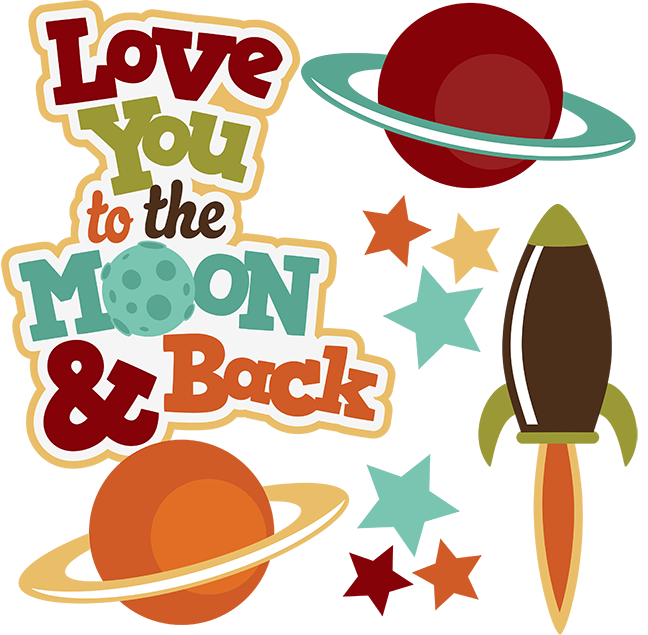 jpg free library Moon And Back Clipart