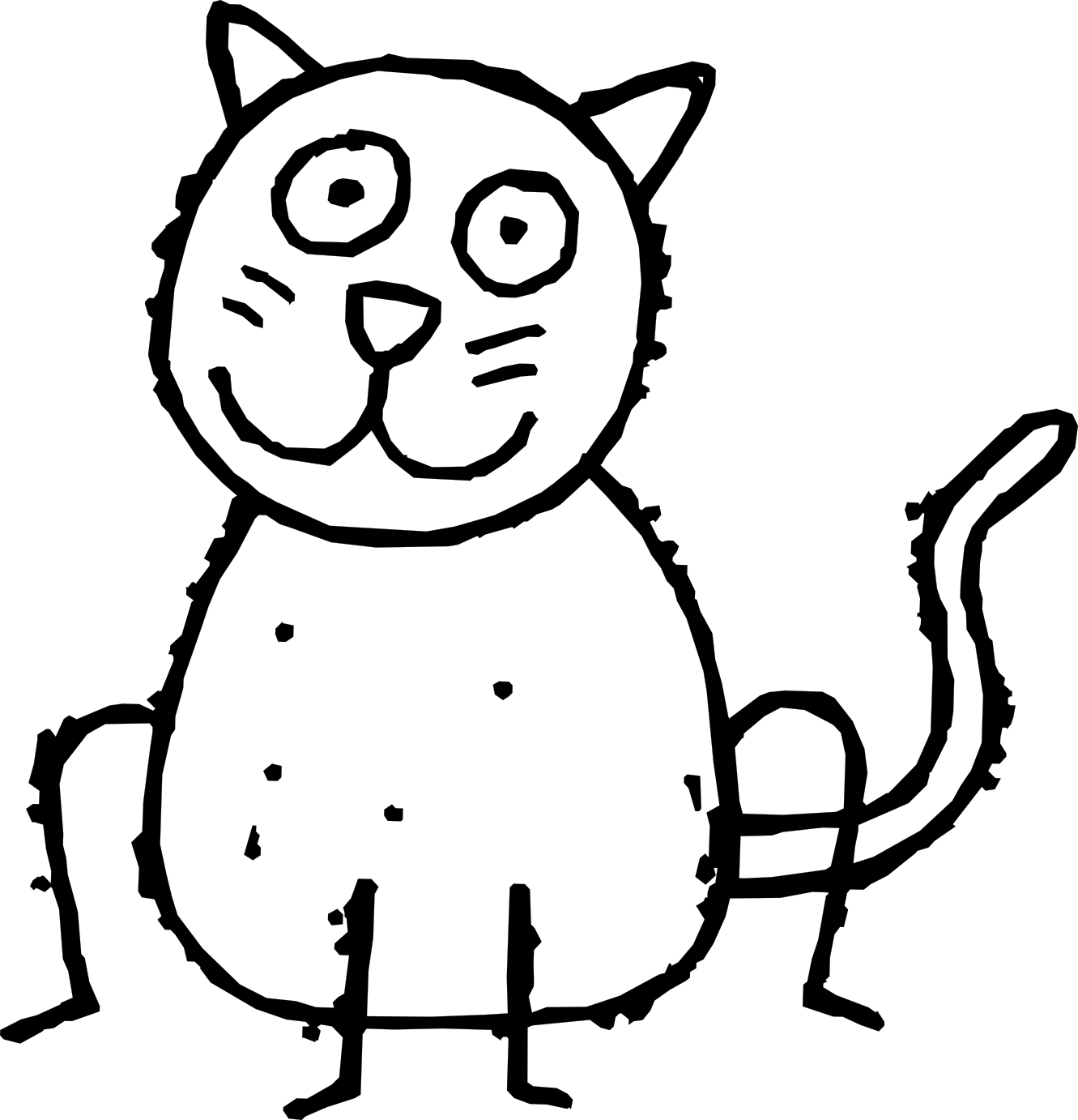graphic black and white library Ice clipart black and white. Cat cartoon pictures free