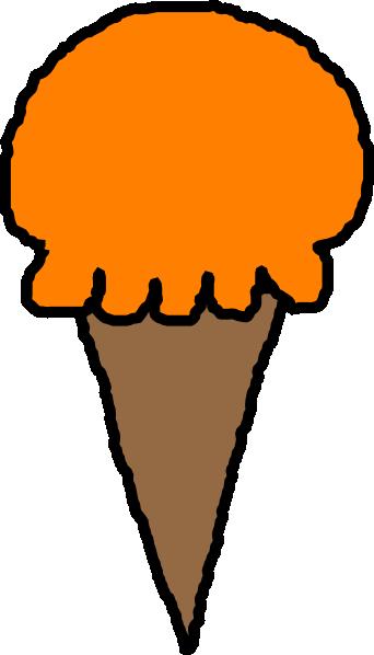 jpg transparent stock Ice Cream Clipart orange