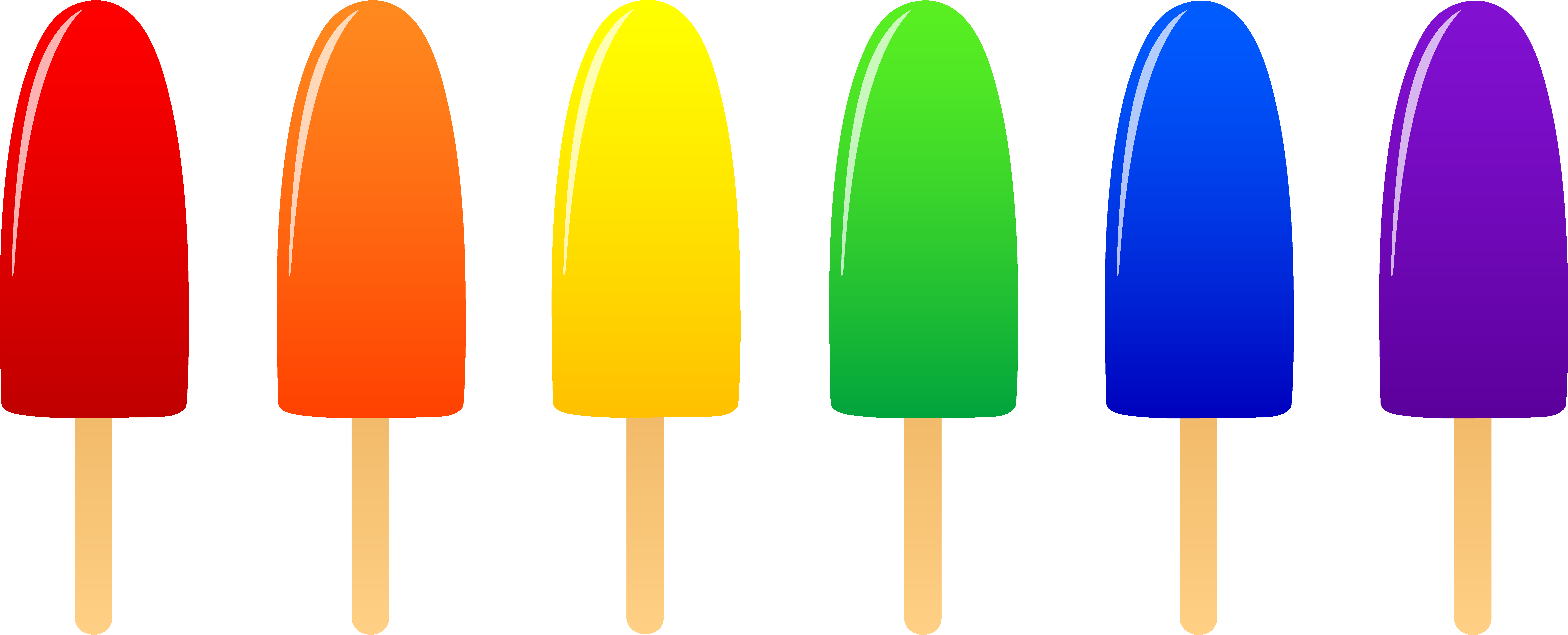 vector royalty free stock Ice pops in six. Popsicle clipart.