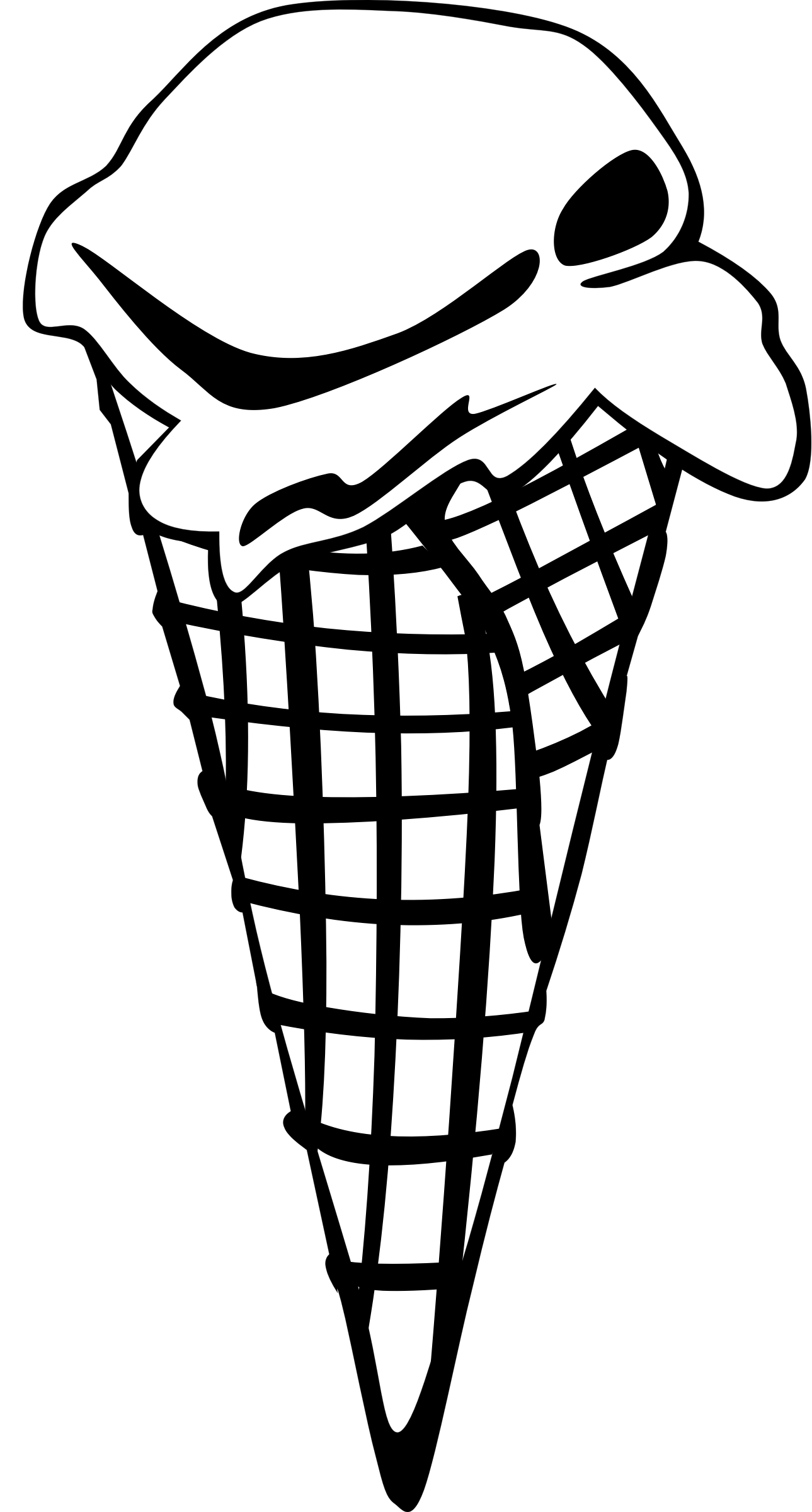 freeuse download Ice cream clipart black and white. Fast food desserts cones