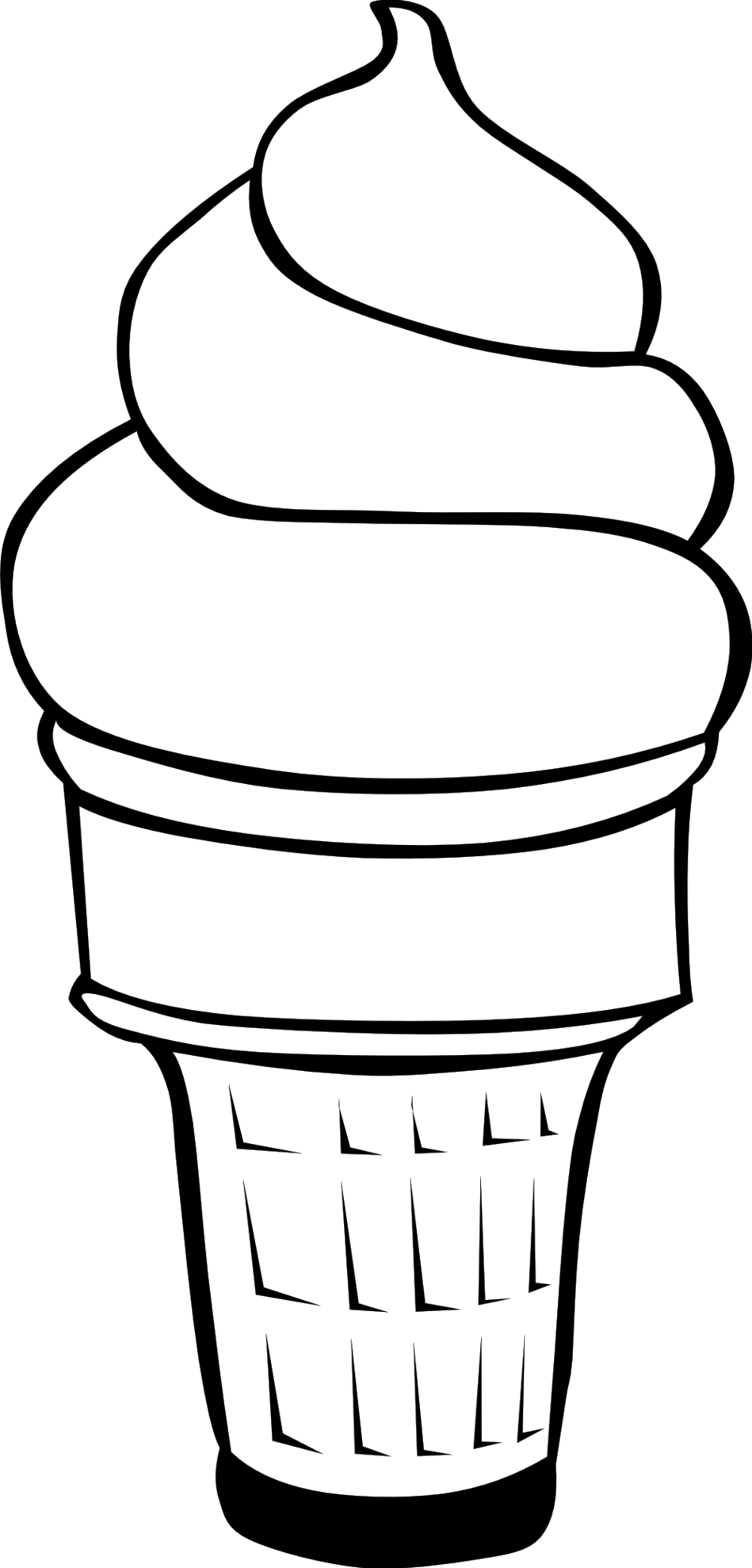 clip transparent library Ice cream clipart black and white.  collection of drawing
