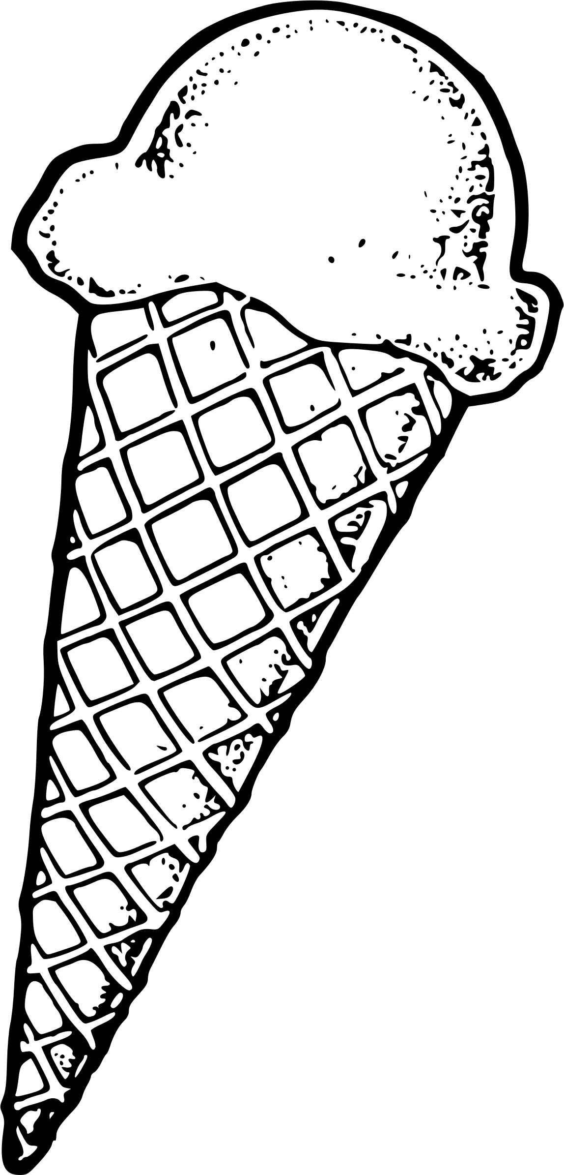 png free download Cone big image png. Ice cream black and white clipart