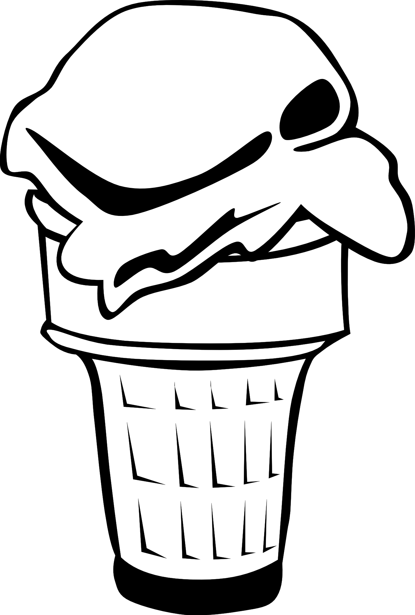 jpg freeuse library Ice cream cone clipart black and white. Panda free blackandwhiteicecreamconeclipart