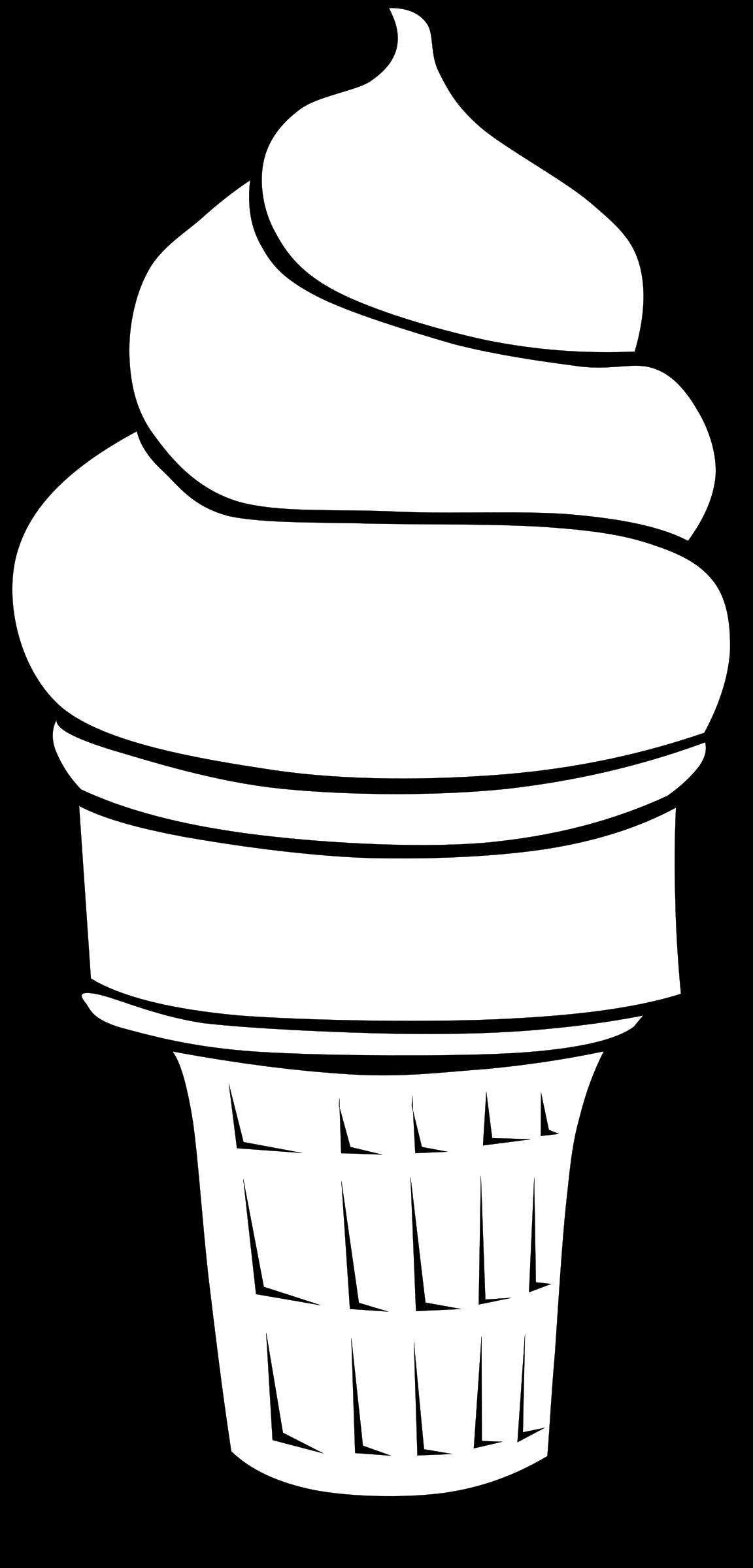 clip art download Ice cream scoop clipart black and white. Line art big image