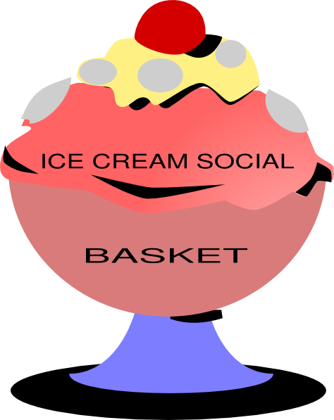 transparent Ice Cream Social Basket Clip Art at Clker
