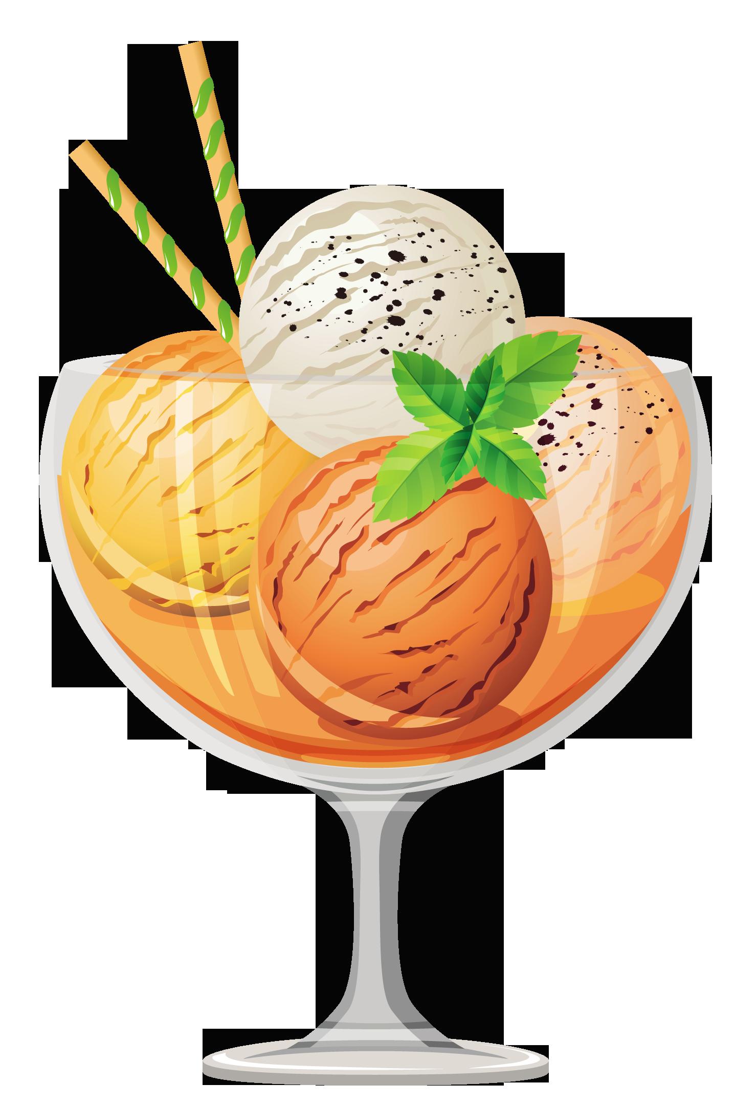 vector royalty free library Sundae clipart craem. Transparent ice cream gallery