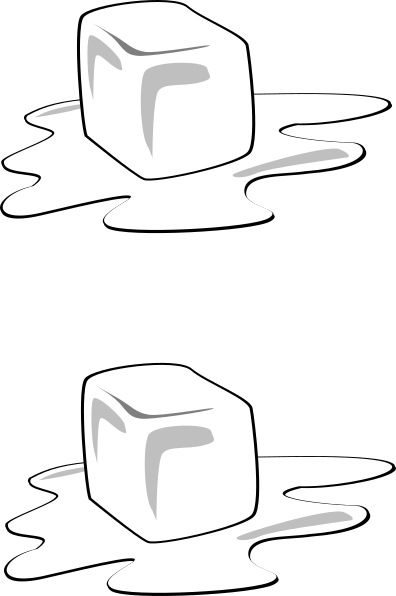 clip royalty free Cubes clip art at. Ice cube clipart black and white