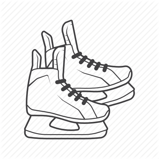 royalty free download Hockey drawing at getdrawings. Ice skate clipart black and white