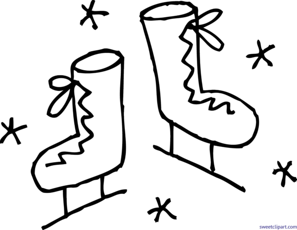 graphic free library Ice skating clipart black and white. All clip art archives