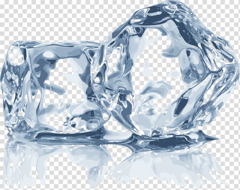 picture transparent library Ice transparent. Two cube ices blue