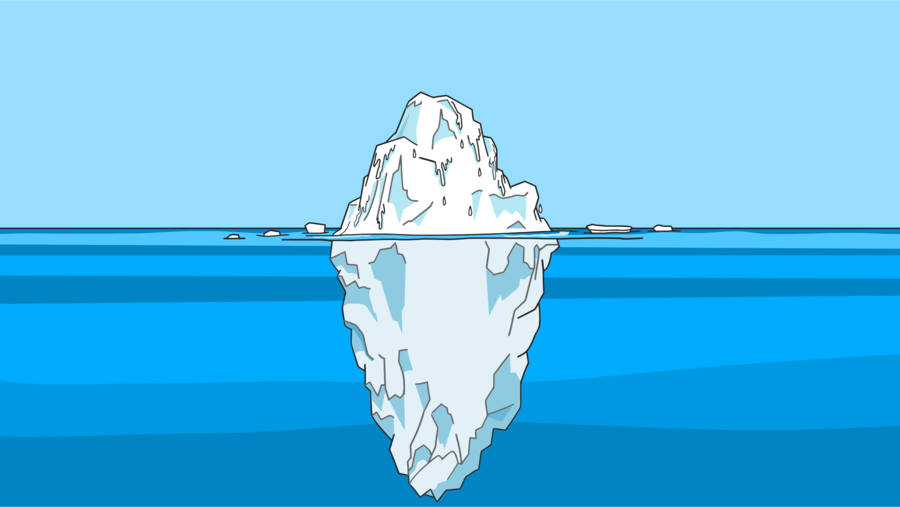 graphic black and white library Iceberg clipart. Cartoon blue water transparent.