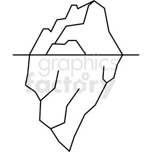 jpg library library Icon royalty free . Iceberg clipart black and white