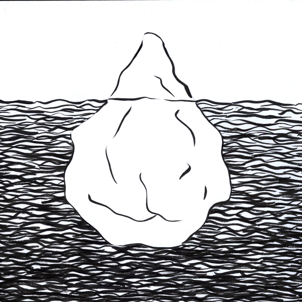 jpg freeuse Iceberg clipart black and white. Free images at clker