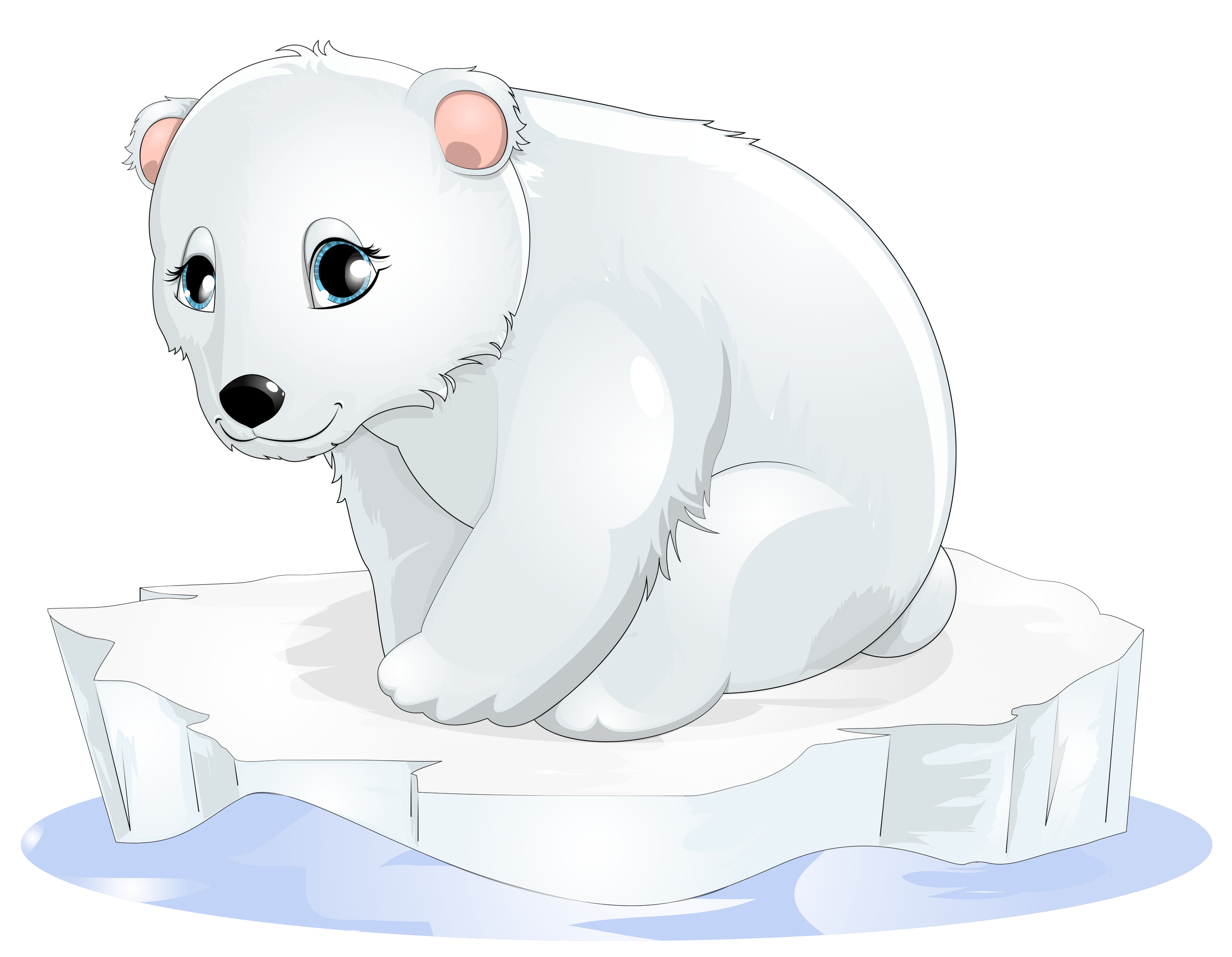 graphic transparent library Iceberg animated free on. Winter polar bear clipart