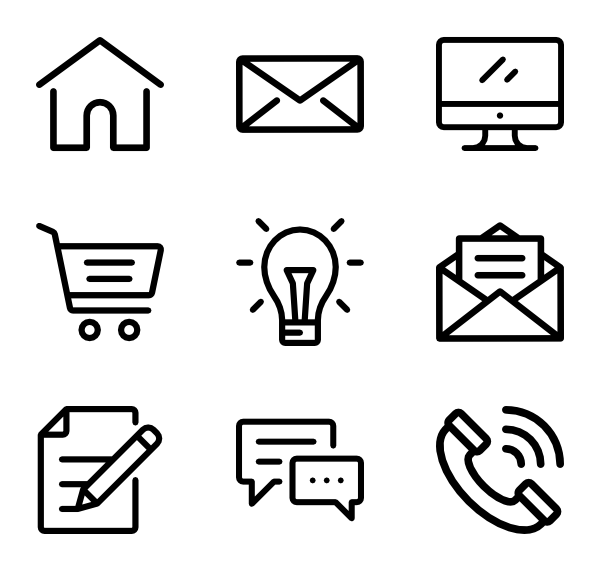 clip art black and white stock icon transparent black and white #98069771