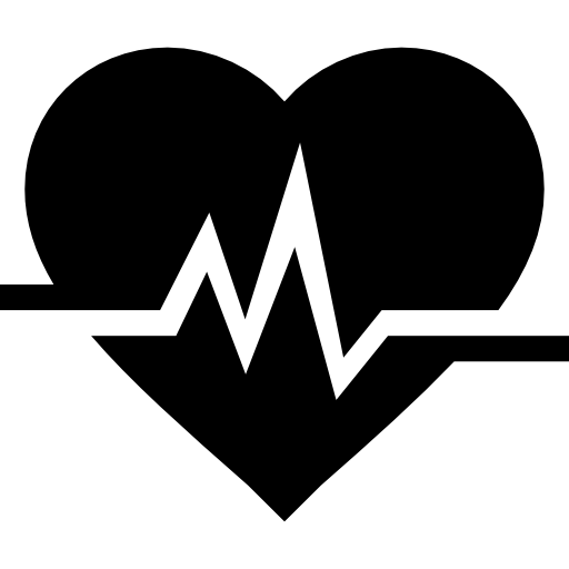 svg Cardiogram and Heart
