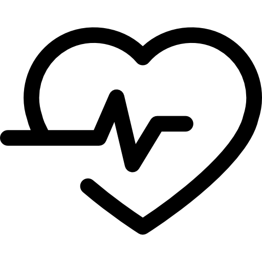 royalty free Lifeline in a heart outline