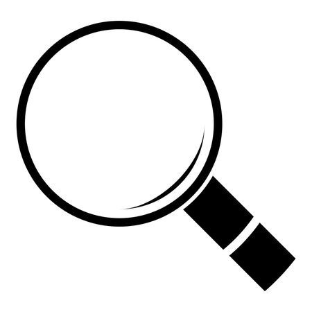 image black and white stock Vector illustration of in. Icon transparent magnifying glass