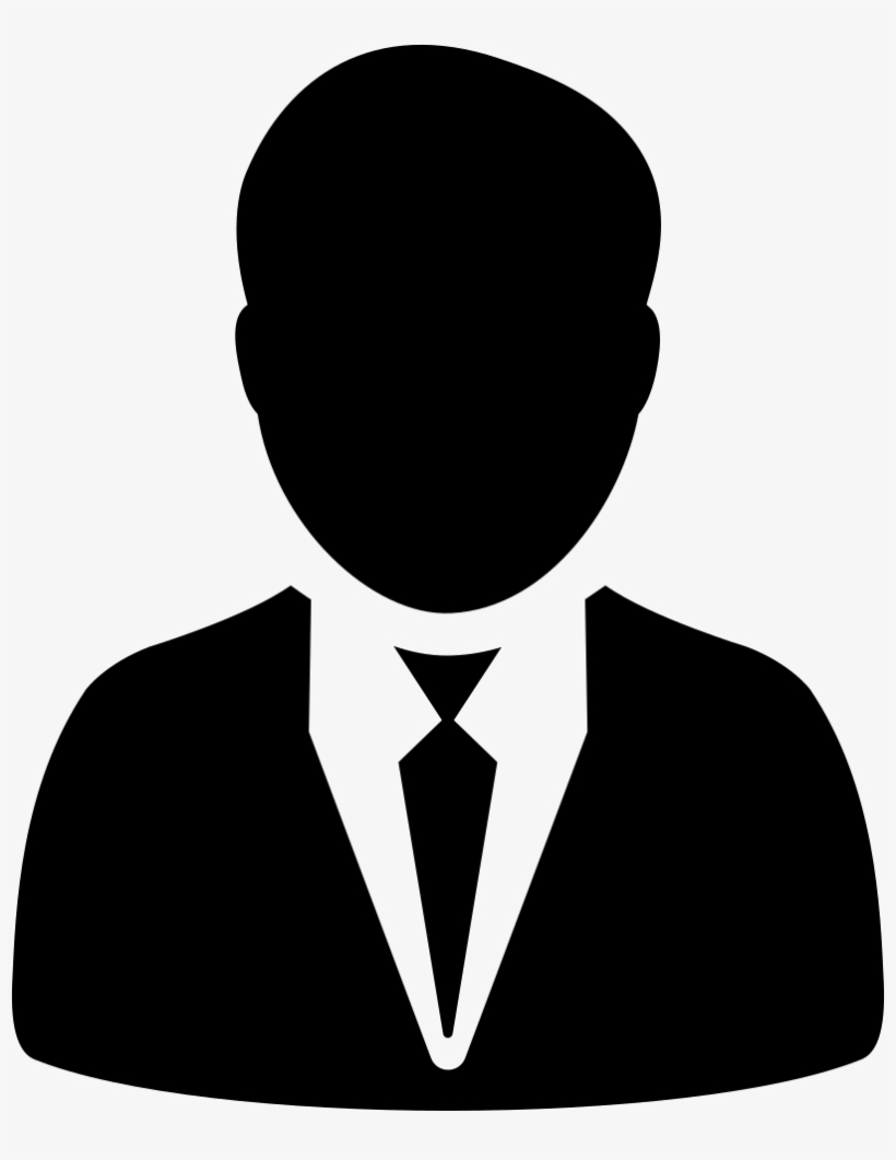 svg black and white stock In suit and tie. Icon transparent man