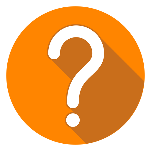 png freeuse Orange circle mark icon. Question vector digital.