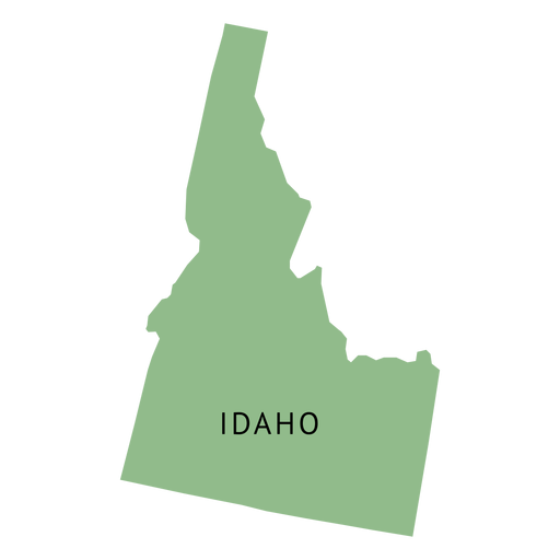 jpg library download State plain map transparent. Idaho vector