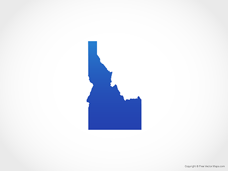 png black and white Maps of free . Idaho vector
