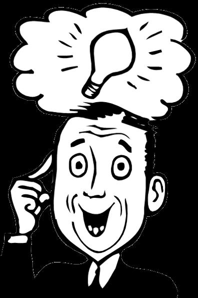 banner black and white download Bright ideas clip art. Idea clipart