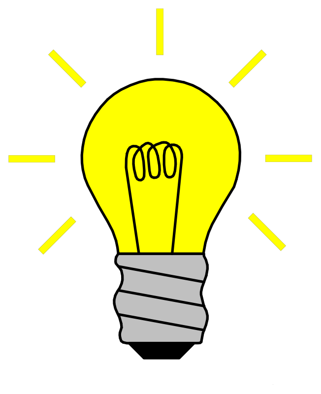 vector library download Light bulb idea clip. Thought clipart profound