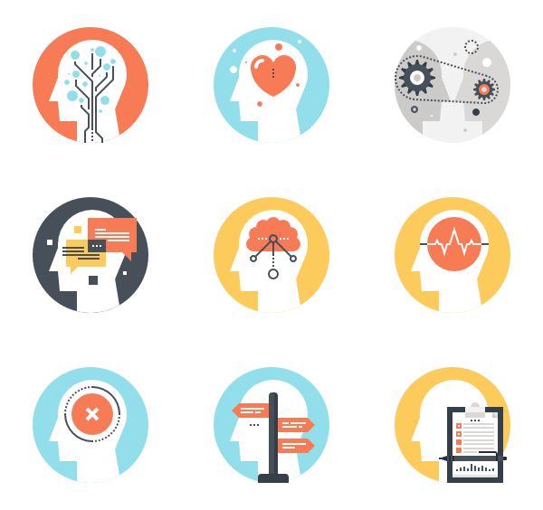 banner freeuse library Brain Icons
