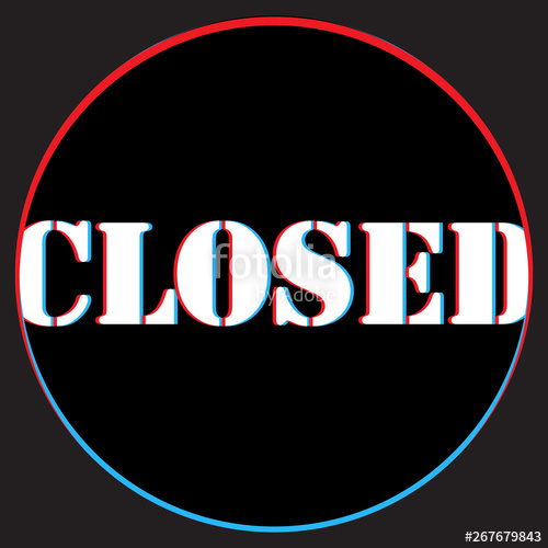 picture Illustration we are closed. Idea vector suggestion
