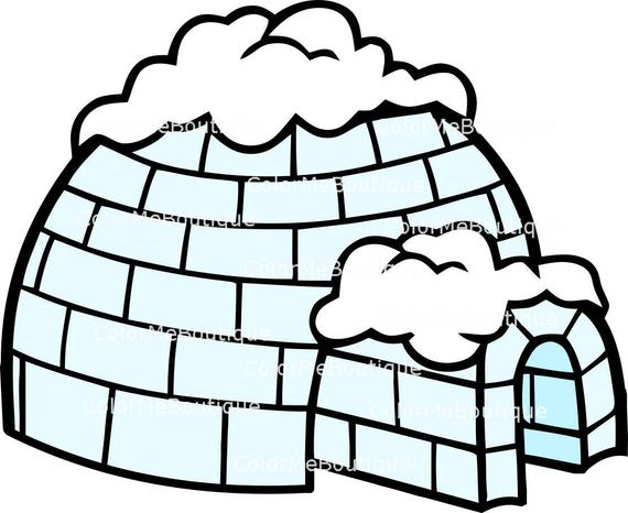 banner library library . Igloo clipart.