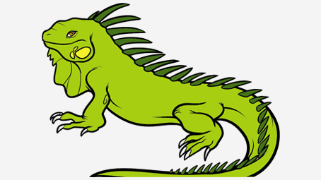 banner black and white library Iguana clipart. Green animation pencil and